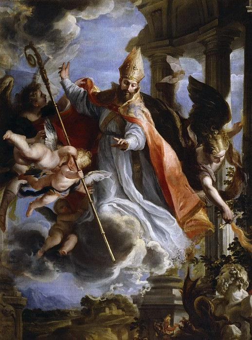 Coello, Claudio -- El triunfo de San Agustín. Part 2 Prado Museum