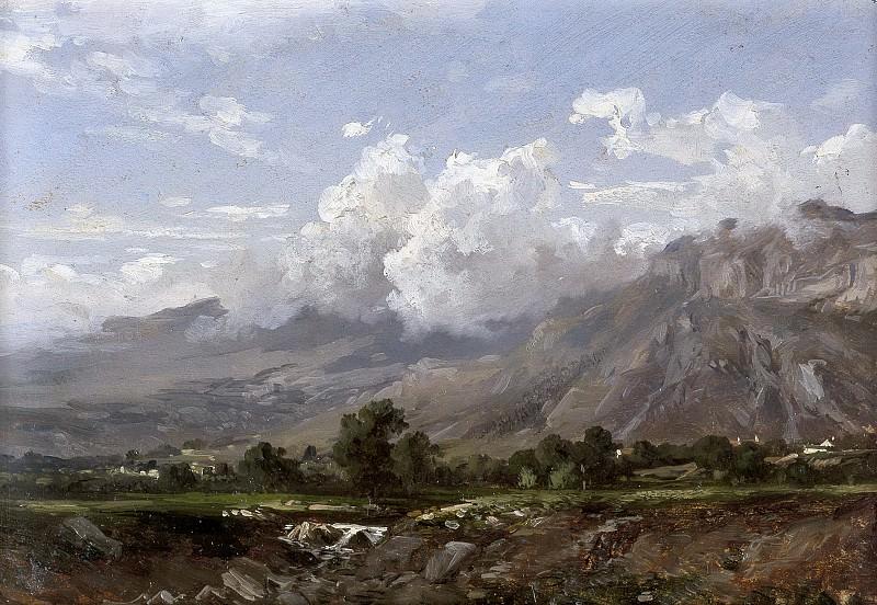 Haes, Carlos de -- Paisaje de montaña. Part 2 Prado Museum