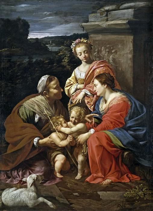 Vouet, Simon -- La Virgen con el Niño, Santa Isabel, San Juan y Santa Catalina. Part 2 Prado Museum