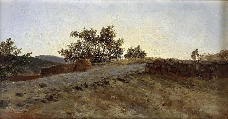 Haes, Carlos de -- Puesta de sol (Aragón). Part 2 Prado Museum