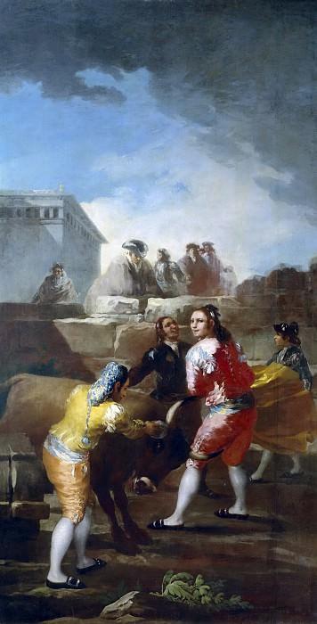 Goya y Lucientes, Francisco de -- La novillada. Part 2 Prado Museum
