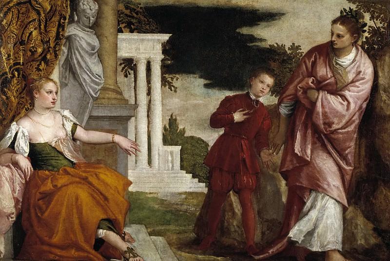 Veronese, Paolo -- El joven entre la Virtud y el Vicio. Part 2 Prado Museum