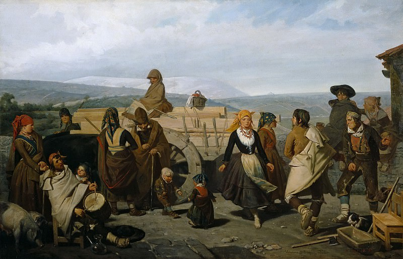 Domínguez Bécquer, Valeriano -- El baile, o La carreta. Part 2 Prado Museum