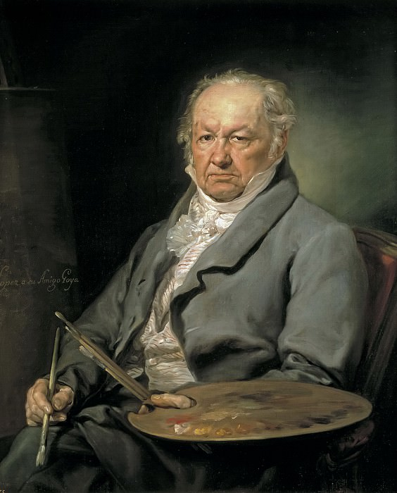 López Portaña, Vicente -- El pintor Francisco de Goya. Part 2 Prado Museum