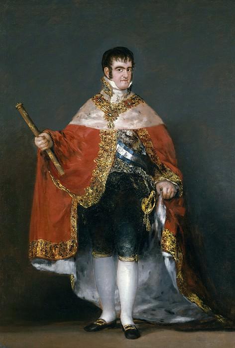 Гойя и Лусиентес, Франсиско де -- Фердинанд VII в королевской мантии. Часть 2 Музей Прадо