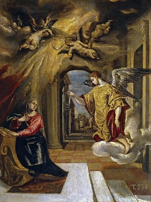 El Greco -- La Anunciación. Part 2 Prado Museum