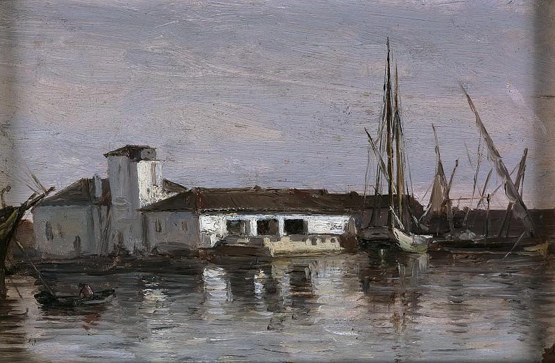 Haes, Carlos de -- Un lazareto (Mallorca). Part 2 Prado Museum
