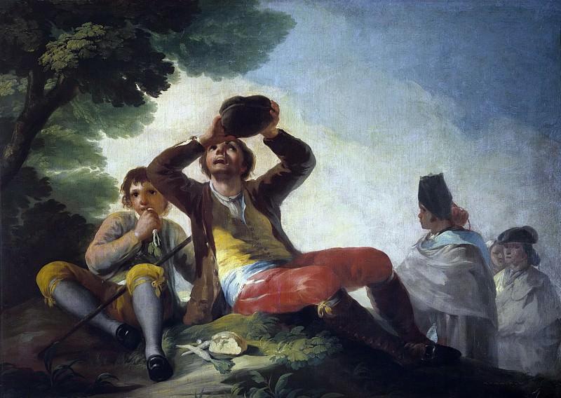 Гойя и Лусиентес, Франсиско де -- Пьющий. Часть 2 Музей Прадо