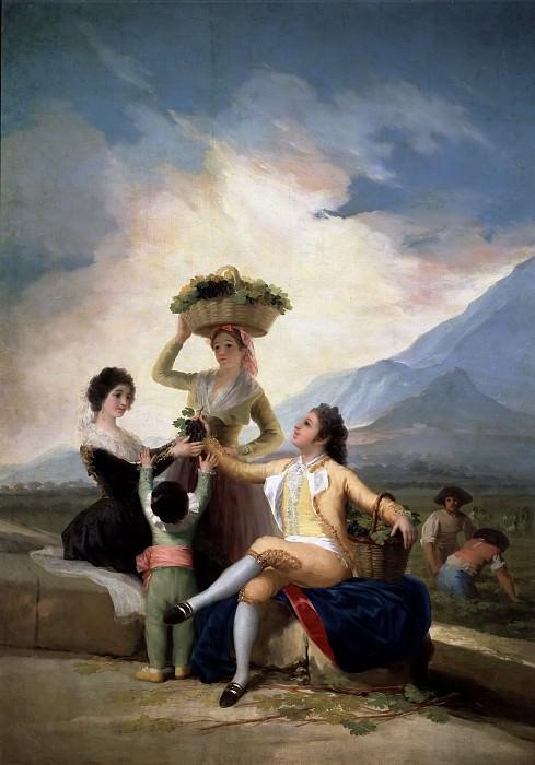 Goya y Lucientes, Francisco de -- La vendimia, o El Otoño. Part 2 Prado Museum