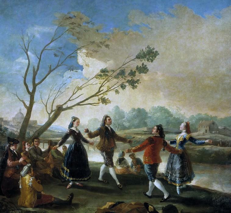 Goya y Lucientes, Francisco de -- Baile a orillas del Manzanares. Part 2 Prado Museum