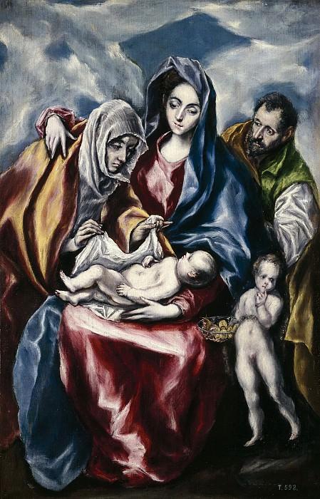 Греко, эль -- Святое семейство со святой Анной и маленьким Иоанном Крестителем. Часть 2 Музей Прадо