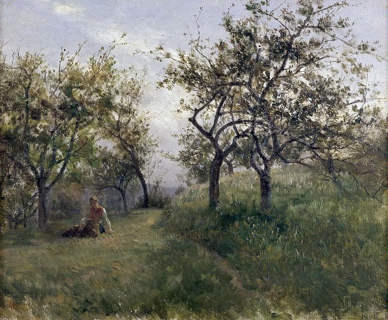 Haes, Carlos de -- Manzanos (Normandía). Part 2 Prado Museum