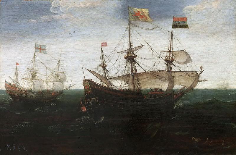 Anthonisz., Aert (Atribuido a) -- Combate naval. Part 2 Prado Museum