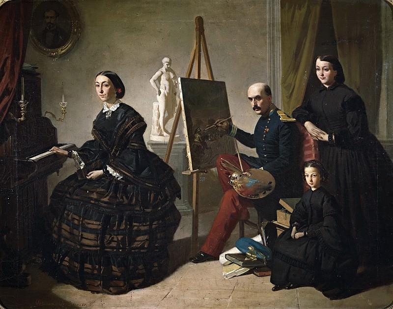 Domínguez Bécquer, Valeriano -- El pintor carlista y su familia. Part 2 Prado Museum