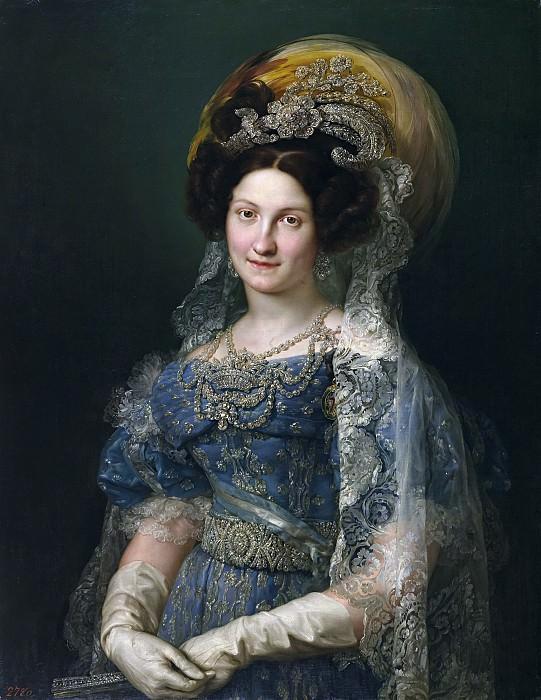 López Portaña, Vicente -- María Cristina de Borbón, reina de España. Part 2 Prado Museum