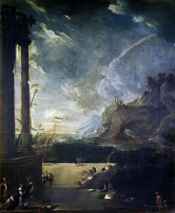Agüero, Benito Manuel de -- Paisaje con la salida de Eneas de Cartago. Part 2 Prado Museum