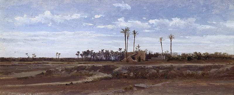 Haes, Carlos de -- Un bosque de palmeras (Elche). Part 2 Prado Museum
