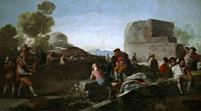 Гойя и Лусиентес, Франсиско де -- Игра в пелоту. Часть 2 Музей Прадо
