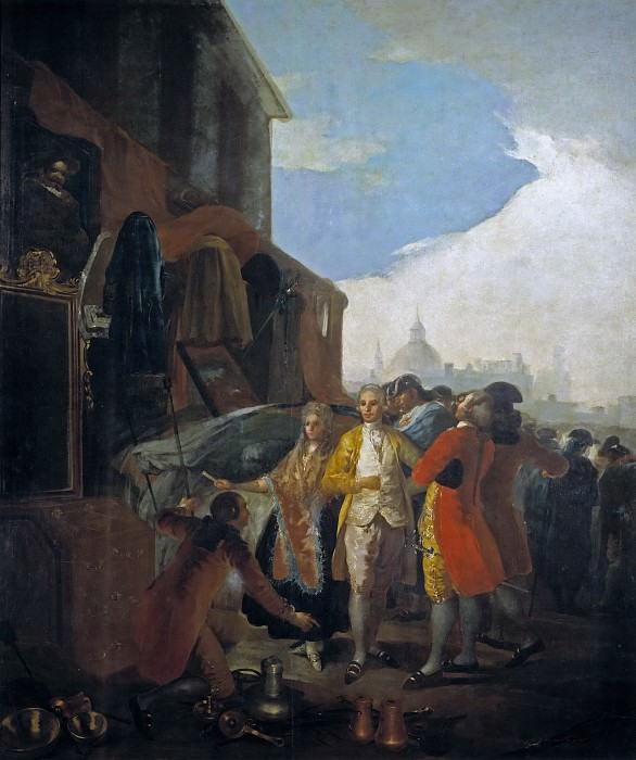 Goya y Lucientes, Francisco de -- La feria de Madrid. Part 2 Prado Museum