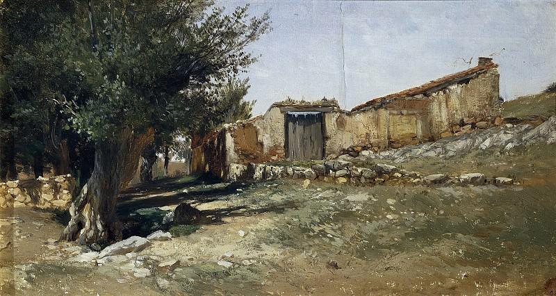 Haes, Carlos de -- Un corral (Aragón). Part 2 Prado Museum