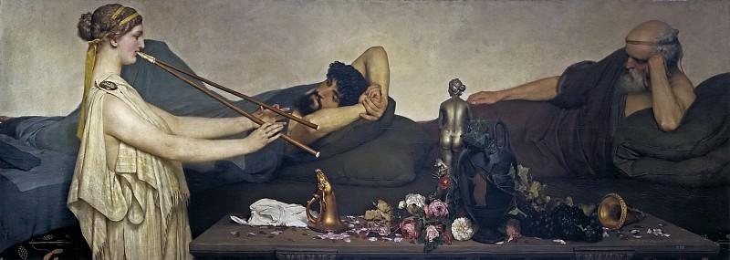 Alma Tadema, Sir Lawrence -- Escena pompeyana, o La siesta. Part 2 Prado Museum