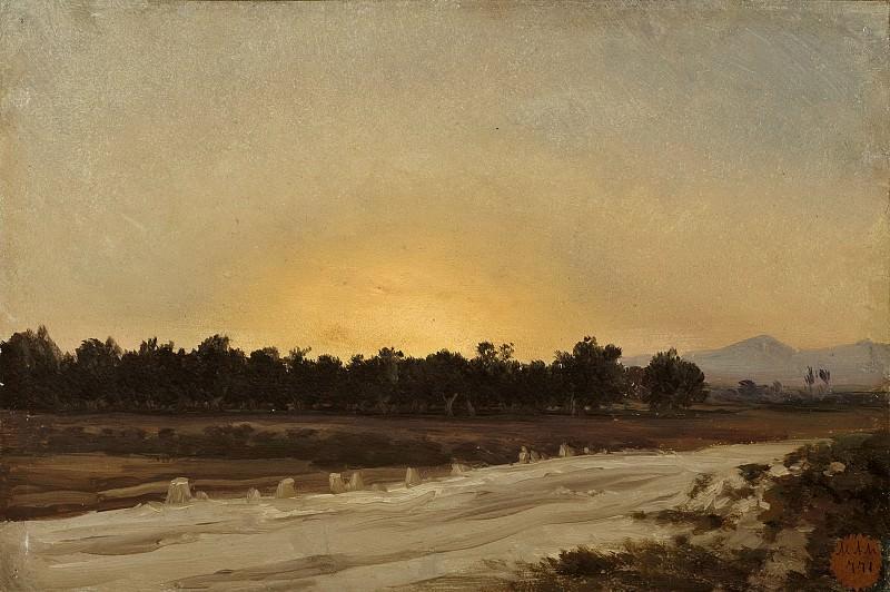 Haes, Carlos de -- Puesta de sol (Elche). Part 2 Prado Museum