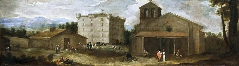 Agüero, Benito Manuel de -- Vista de El Campillo, casa de campo de los monjes de El Escorial. Part 2 Prado Museum