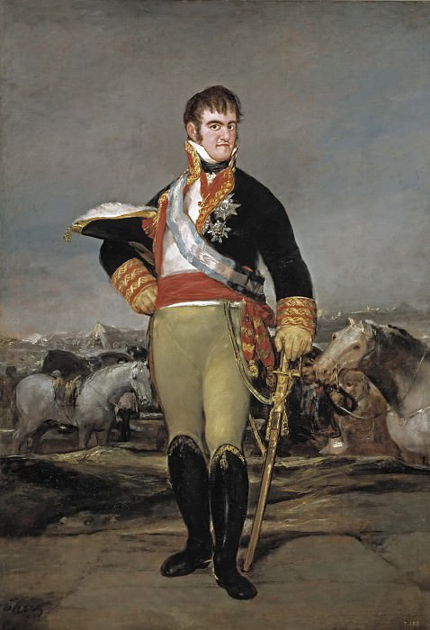 Гойя и Лусиентес, Франсиско де -- Фердинанд VII в военном лагере. Часть 2 Музей Прадо