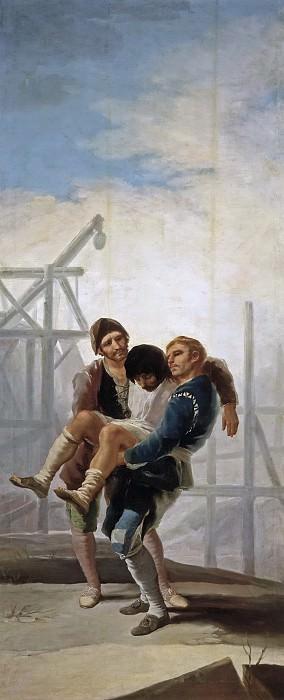 Goya y Lucientes, Francisco de -- El albañil herido. Part 2 Prado Museum