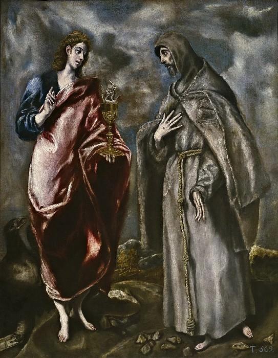 Эль Греко (мастерская) -- Свв Иоанн Богослов и Франциск Ассизский. Часть 2 Музей Прадо