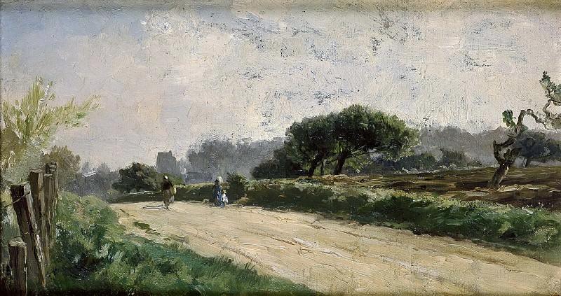 Haes, Carlos de -- Camino de Villerville. Part 2 Prado Museum