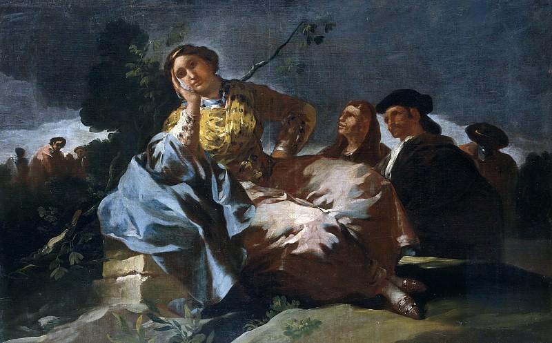 Гойя и Лусиентес, Франсиско де -- Свидание. Часть 2 Музей Прадо