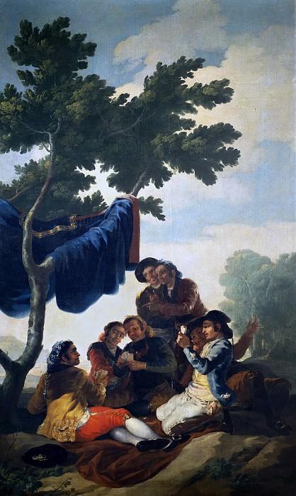 Гойя и Лусиентес, Франсиско де -- Картежники. Часть 2 Музей Прадо
