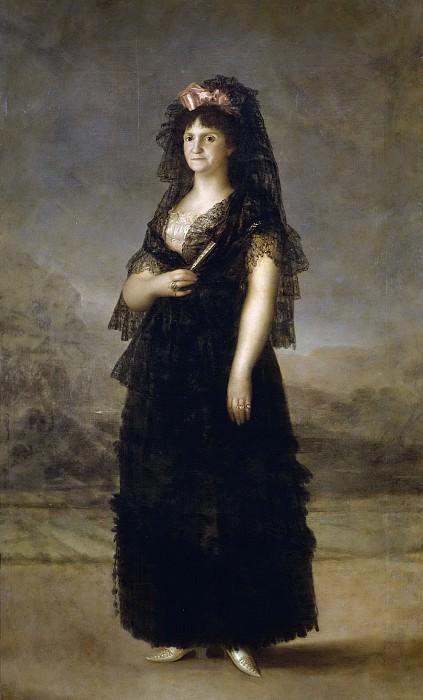 Esteve y Marqués, Agustín (Copia Goya y Lucientes, Francisco de) -- María Luisa de Borbón-Parma, reina de España, con mantilla. Part 2 Prado Museum