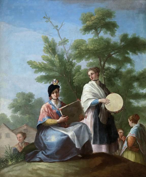 Bayeu y Subías, Ramón -- Mozas tocando el pandero. Part 2 Prado Museum