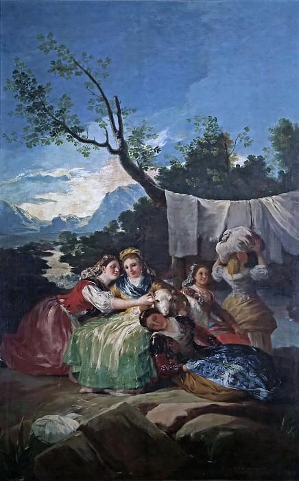 Goya y Lucientes, Francisco de -- Las lavanderas. Part 2 Prado Museum