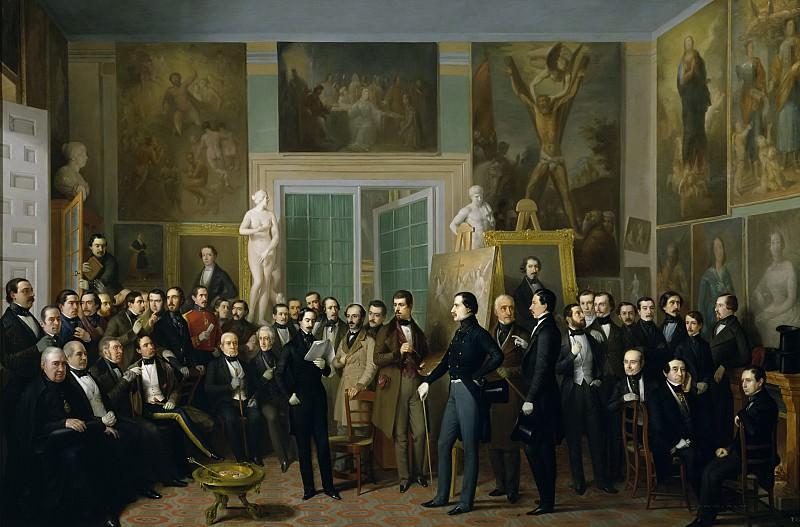 Esquivel y Suárez de Urbina, Antonio María -- Los poetas contemporáneos. Una lectura de Zorrilla en el estudio del pintor. Part 2 Prado Museum