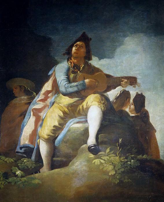 Гойя и Лусиентес, Франсиско де -- Гитарист. Часть 2 Музей Прадо