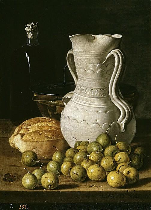 Мелендес, Луис Эгидио -- Натюрморт с хлебом и кувшином. Часть 2 Музей Прадо