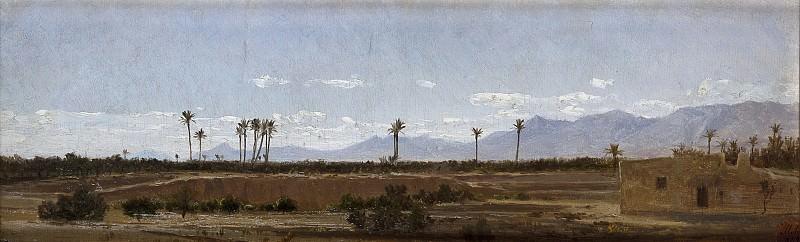 Haes, Carlos de -- Palmeras de Elche. Part 2 Prado Museum