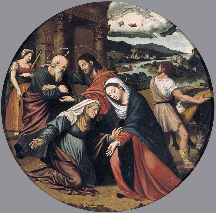 Macip, Vicente Joanes -- La Visitación. Part 2 Prado Museum
