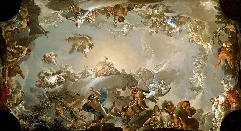 Bayeu y Subías, Francisco -- El Olimpo: batalla con los gigantes. Part 2 Prado Museum