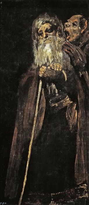 Goya y Lucientes, Francisco de -- Dos frailes. Part 2 Prado Museum