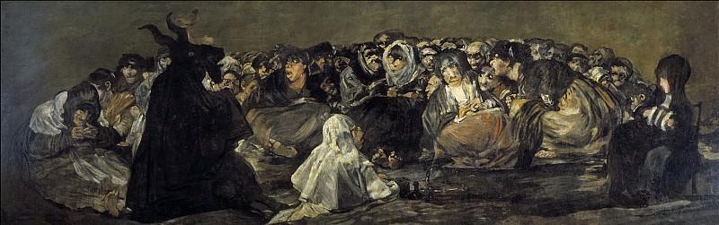 Гойя и Лусиентес, Франсиско де -- Шабаш ведьм. Часть 2 Музей Прадо
