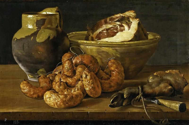 Мелендес, Луис Эгидио -- Натюрморт: колбаса и ветчина. Часть 2 Музей Прадо
