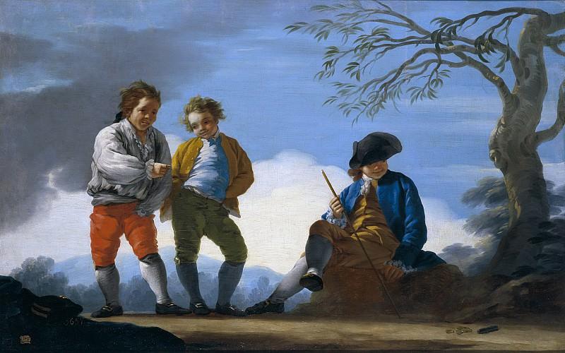 Castillo, José del -- Muchachos jugando al chito. Part 2 Prado Museum