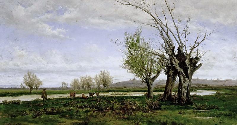 Beruete y Moret, Aureliano de -- Orillas del Manzanares. Part 2 Prado Museum