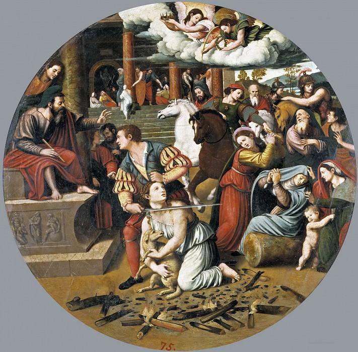 Macip, Vicente Joanes -- Martirio de Santa Inés. Part 2 Prado Museum