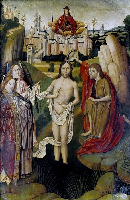 Мастер Мирафлорес -- Крещение Господне. Часть 2 Музей Прадо