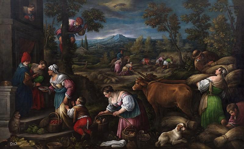 Bassano, Francesco -- Junio (Cáncer). Part 2 Prado Museum